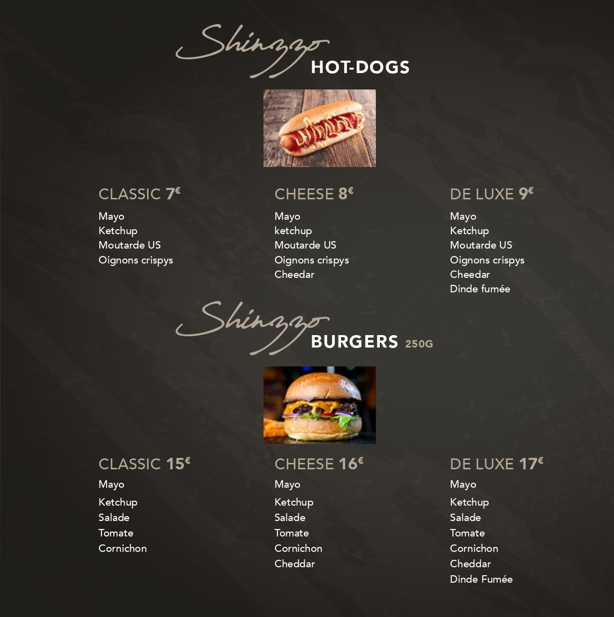 Hot Dogs & Burgers Shinzzo