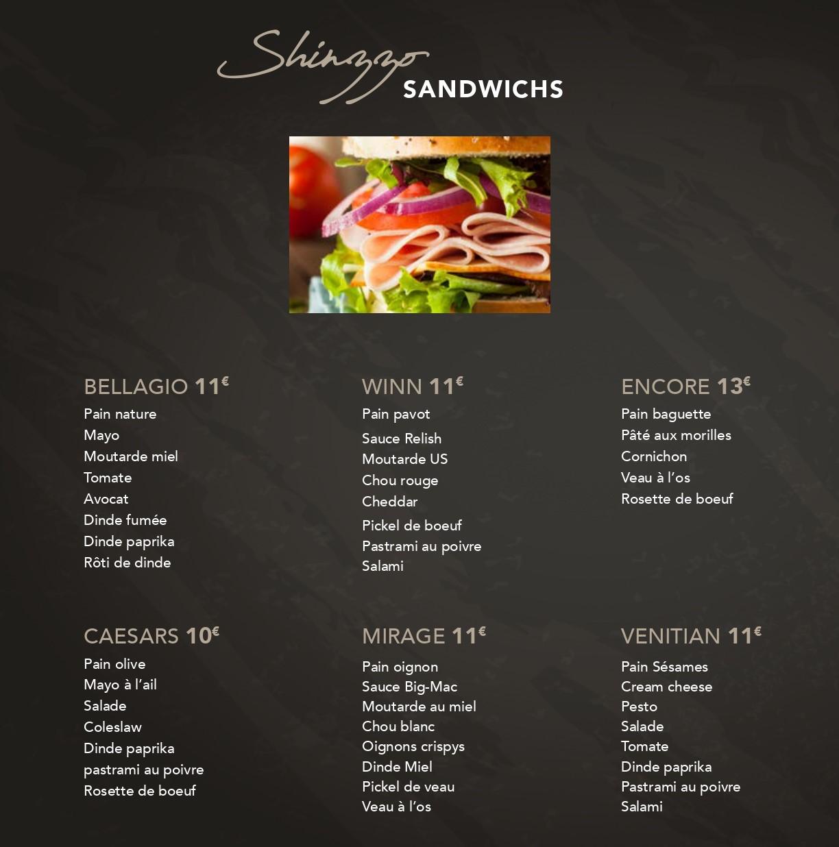 Sandwich Shinzzo